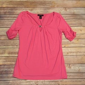 White House Black Market Pink T-Shirt, Size S